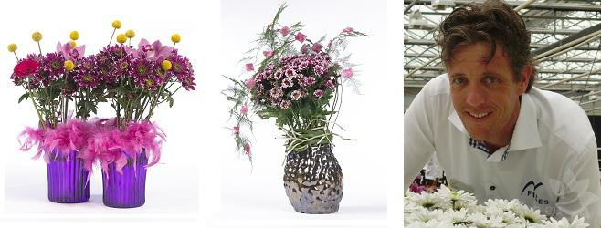 Букеты из кустовой хризантемы