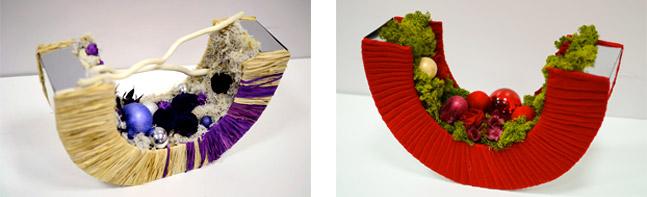 новогодние композиции из стабилизированных цветов