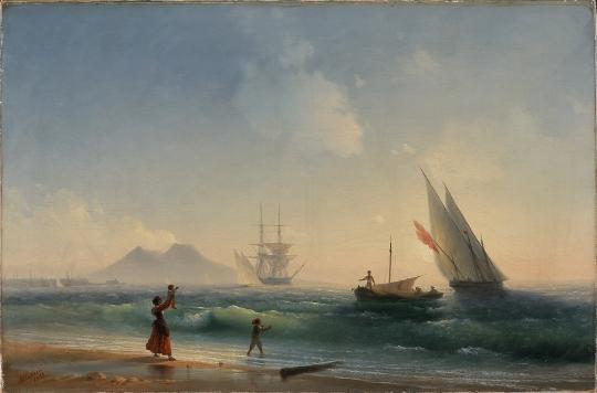 Иван Айвазовский. Встреча рыбаков на берегу Неаполитанского залива. 1842