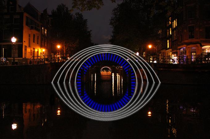 фестиваль света в Амстердаме